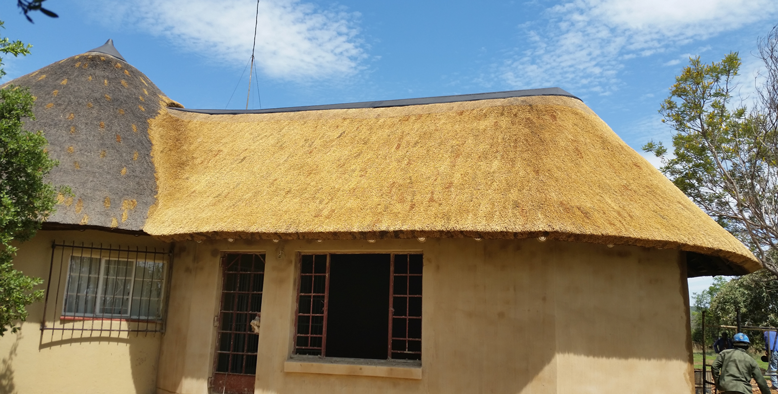 Thatched roof extensions